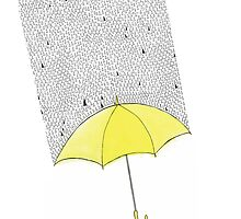 Yellow Umbrellow by angeflange