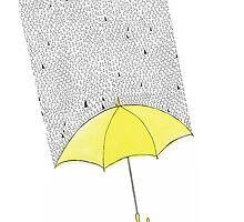 Yellow Umbrellow by Angie Douglas