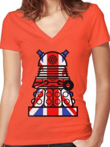 Dr Who - Jack Dalek Women's Fitted V-Neck T-Shirt