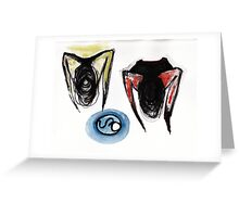 funny geometric forms Greeting Card