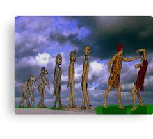 The Evolution of Man. Canvas Print