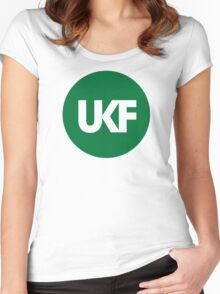 UKF-Green Women's Fitted Scoop T-Shirt