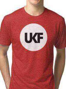 UKF-White and Black Tri-blend T-Shirt