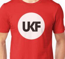 UKF-White and Black Unisex T-Shirt