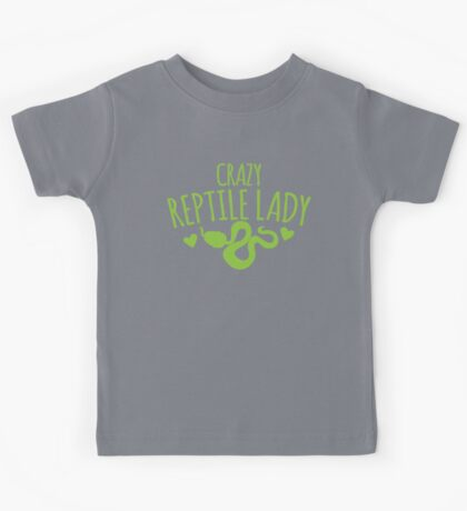 Crazy Reptile lady (SNAKE) Kids Tee
