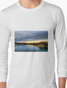 Autumn sunset landscape Long Sleeve T-Shirt