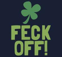 FECK OFF (Irish swear words) with a shamrock Kids Tee