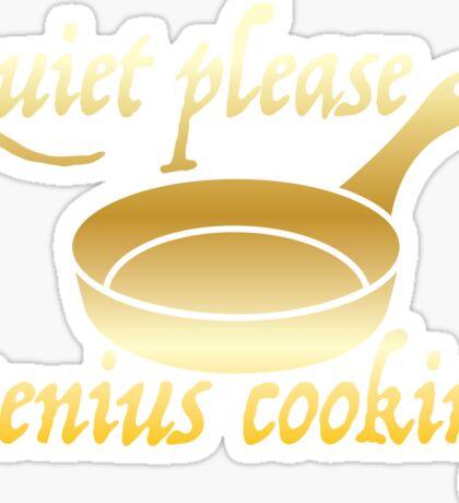Quiet please GENIUS COOKING Sticker
