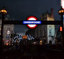 Piccadilly Circus Underground Station  by DizzdemonaMay