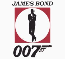 Cool James Bond Stencil Art Kids Clothes