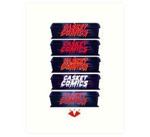 Caskets Comics Logo Art Print