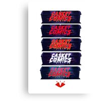 Caskets Comics Logo Canvas Print