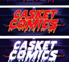 Caskets Comics Logo Sticker