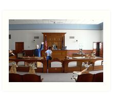 I object!  How is my client supposed to get a fair trial….this is nothing but a kangaroo court!!! Art Print