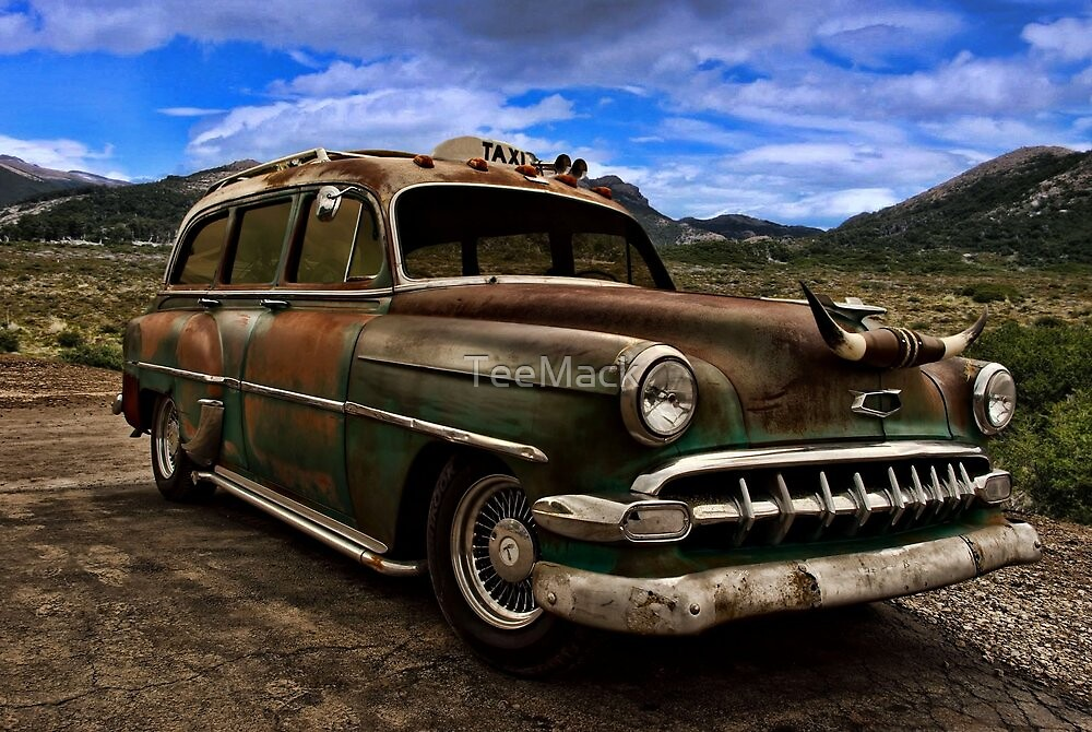 1954 Chevrolet Station Wagon Taxi by TeeMack