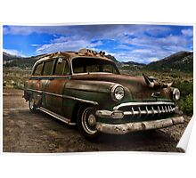 1954 Chevrolet Station Wagon Taxi Poster