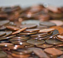 Rolling Coins by Carolyn Clark