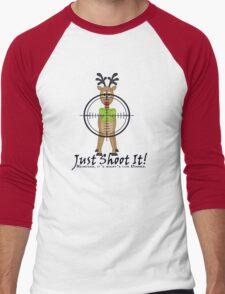 Reindeer, It's what's for dinner. Men's Baseball ¾ T-Shirt