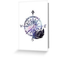Galaxy compass Greeting Card