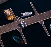 docking boats top view in Monaco, Europe  by hpostant