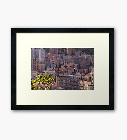 Blurry Monaco  Framed Print