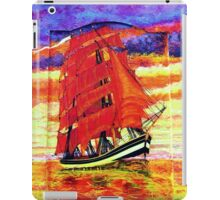 Clipper Ship Wearing Red Sails iPad case iPad Case/Skin