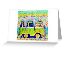 Bear On a Bus Greeting Card