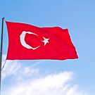 Turkish Flag Flapping In The Wind by Kuzeytac