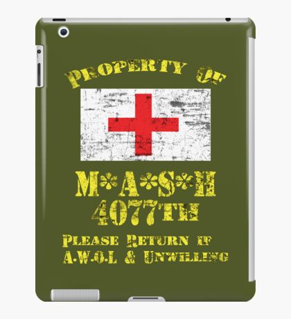 Property Of Mash 4077th iPad Case/Skin