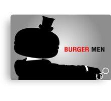 Burger Men Canvas Print