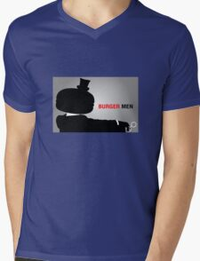 Burger Men Mens V-Neck T-Shirt
