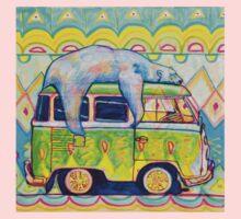 Bear On a Bus Kids Tee