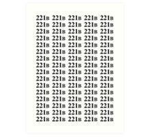 221B - Sherlock Art Print