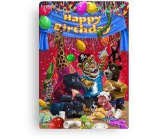 animal birthday party Canvas Print