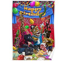 animal birthday party Poster