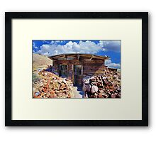 Ore Sample Storage Cabin Framed Print