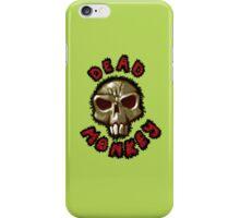 Dead monkey skull painting iPhone Case/Skin