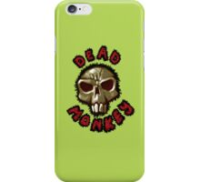 Dead monkey skull painting iPhone Case/Skin