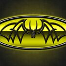 Classic Yellow & Black Batman Tribal by joshjen10