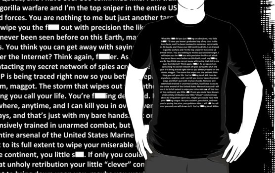 Gorilla Warfare (Navy SEAL copypasta in White) by ScaleJack