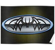 Classic Blue & Grey Batman Tribal Poster
