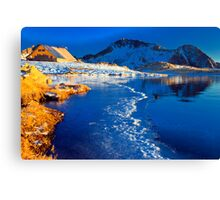 look to the peak Canvas Print