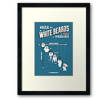 Magical White Beards Framed Print