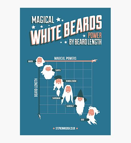 Magical White Beards Photographic Print