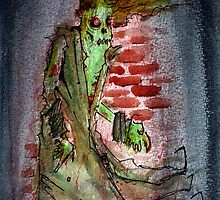 lonely zombie by byronrempel