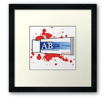 Blood is a lubricant! Framed Print