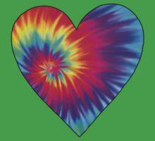 Tie-Dye Heart Kids Tee