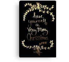 A Very Merry Christmas Canvas Print