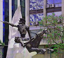 Don Quijote de la Mancha y Rocinante............... by cieloverde