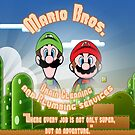 Mario Bros. Drain Cleaning &amp; Plumbing Service by joshjen10